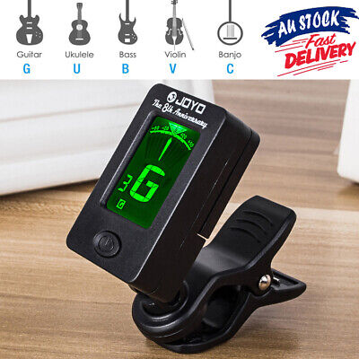 ^13!W Banjo Violin JOYO Guitar Tuner OUD *Clip On Chromatic Bass Ukulele