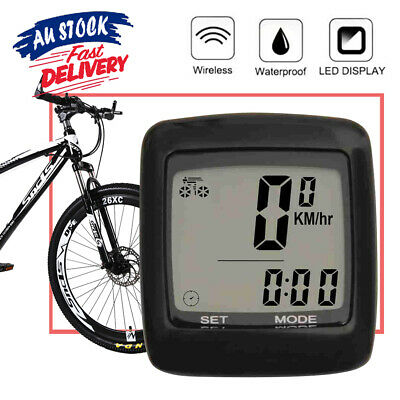 LCD Digital Cycle Bike Odometer Computer Bicycle Speedometer Waterproof