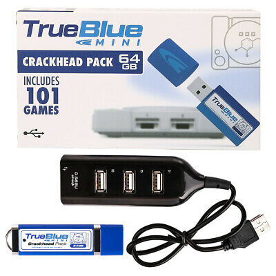 True Blue Mini Crackhead Pack for PS1 PlayStation Classic-64GB 101 Games
