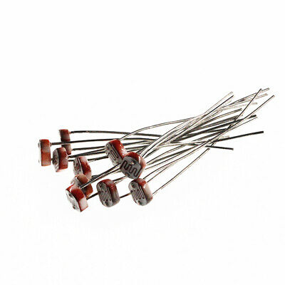 10PCS 5MM Photoresistor 5-10K Light-Dependent Resistor Photosensitive Sensor