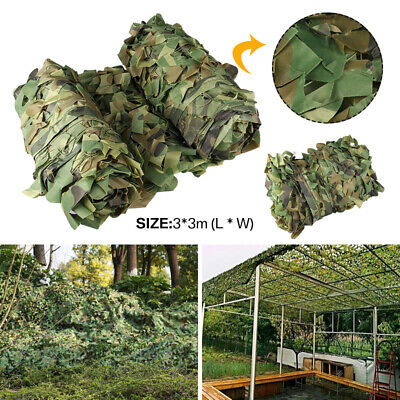 3Mx3M Camouflage Net Camo Hunting Shooting Hide Army Camping Woodland Netting