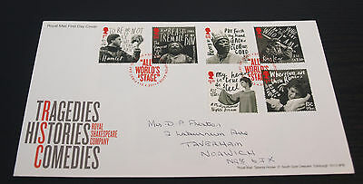 12/4/11 50th Anniv of the Royal Shakespeare Company First Day Cover SHS (B89)