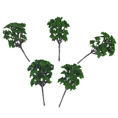 5pcs 16cm Green Model Trees for Architecture Train Railway Wargame Layout
