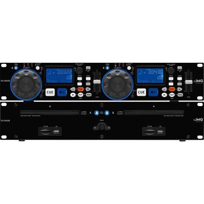 IMG Stageline CD-230USB Dual CD Player with USB