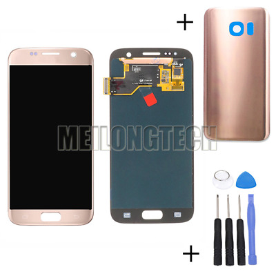 For Samsung Galaxy S7 G930F Amoled LCD Display Touch Screen Digitizer Rose Gold