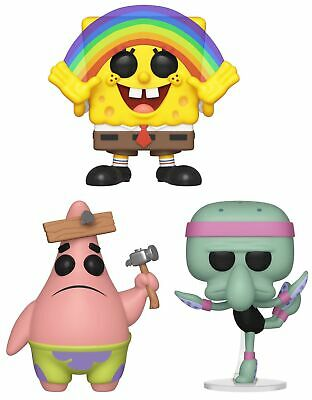 Funko Pop! Animation: Spongebob Squarepants Rainbow Patrick w/ Board Squidwar...