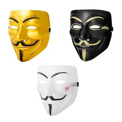 Mixed Pack Guy Fawkes Anonymous Face Masks Hacker V For Vendetta Halloween Dress