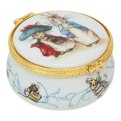 Reutter Porcelain Collectable Beatrix Potter Peter Rabbit Trinket Box