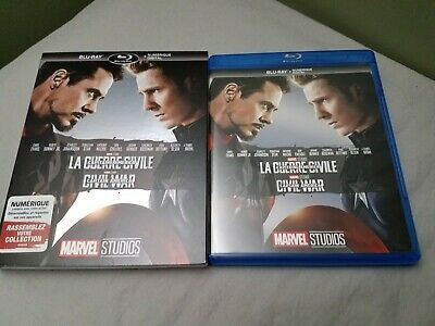 Captain America: Civil War with slipcover (Blu-ray Disc, 2017)