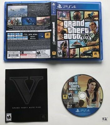 Grand Theft Auto V 5 (Sony PlayStation 4, 2014) CIB with Map!