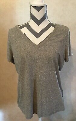 71907457 MOSSIMO WOMEN'S GRAY V Neck T-Shirt Top Size XXL Apple designs ...