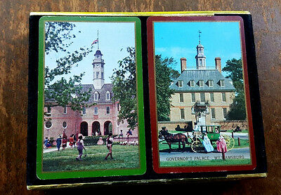 Congress Dual Deck Playing Cards in Holder Colonial Williamsburg Cel-U-Tone