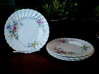 Royal Doulton ARCADIA Bread & Butter Plates Older Green Backstamp - lot of 4