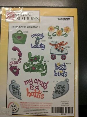 embroidery machine CD Tween Scene Collection l, by Great Notions