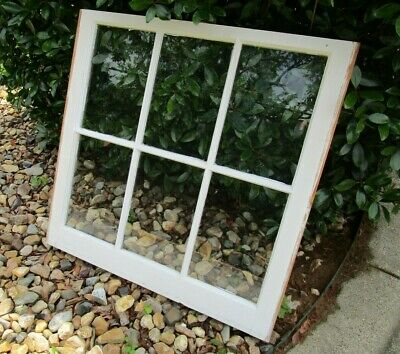Vintage antique sash 6 pane 28x28 wood window pinterest wedding picture frame 16