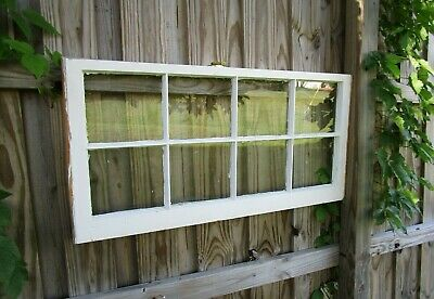 Vintage farmhouse antique sash 8 pane 44x19 wood window pinterest frame 24