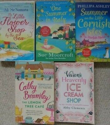 BUNDLE OF 5 x CHICK LIT PAPERBACK BOOKS - MIXED AUTHORS - CATHY BRAMLEY & MORE