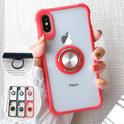 For iPhone XS Max Case XR X 8 7 6 Hybrid TPU Bumper Stand Slim Shockproof Cover