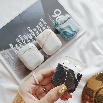 Fresh Marble Hard Shell Wireless Bluetooth Earphone Case Cover For Apple Airpod