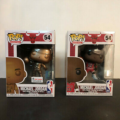 Funko Pop Michael Jordan #54 Bundle Red And Bronze Foot Locker Exclusive Lot