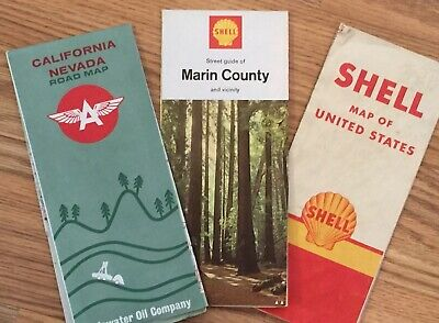 Vintage Maps - CA/NV, Marin County, US