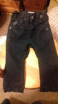 Baby Boys Black Next Jeans Age 3-6 Months Adjustable Waist
