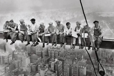 Lunch on a Skyscraper Wall Poster Print New in Manufacturer's Plastic 24x33