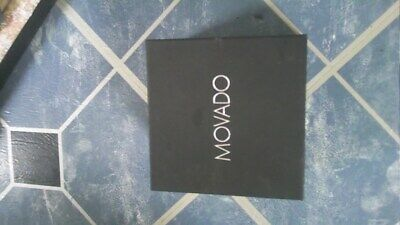 Movado Black Watch Outer Box ONLY Empty box NO WATCH