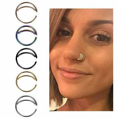 Unisex High Quality Thin Nose Rings Stud Women Body Piercings Fake Septum Hoop