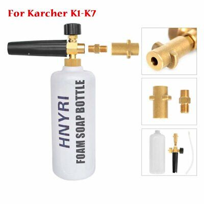Snow Foam Lance Soap Bottle High Pressure Washer Gun Jet for Karcher K1-K7 HNYR