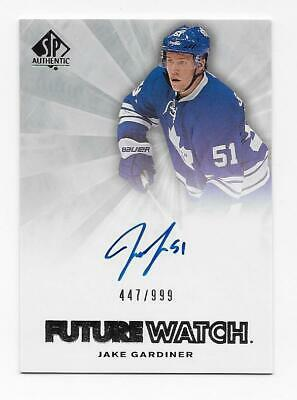 Jake Gardiner 2011-12 Upper Deck SP Authentic Future Watch Auto 447/999 Toronto