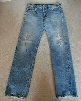 7c1cf1be Used Levis 501~ destroyed feathered grunge jean 36 W 38 L~ShrinktoFit  Button Fly