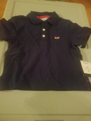 New~Vineyard Vines Target Baby Boy 18 months Navy Blue Red Whale Logo Polo Shirt
