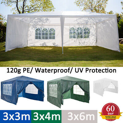 3x3M Gazebo Marquee Party Tent Waterproof Garden Patio Outdoor Canopy &Sidewalls