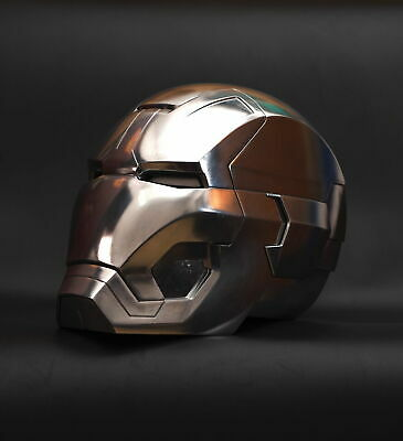 CATTOYS 1:1 Iron Man MK42 Helmet Replica Polished Full Metal [Remote Version]