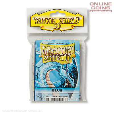 DRAGON SHIELD - Classic Standard Card Sleeves BLUE Pack of 50 #AT-10203