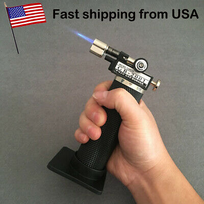 Adjustable Flame Butane Refillable Cigar Jet Torch Lighter BBQ Soldering US