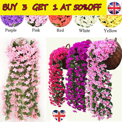 Artifical Fake Flowers Ivy Vine Hanging Garland Plant Wedding Home Party Decor H