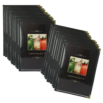 Pack Of 20 A4 Cafe Menu Folders With 4 Pockets 8 Pages