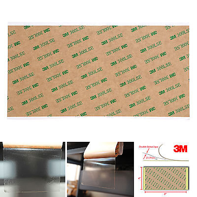 """1/2/5pcs 3M 9474LE 300LSE Super-Strong Double-Sided Adhesive Sheet Size 4""""x8"""""""