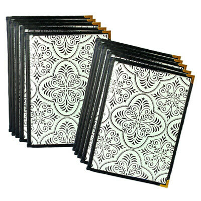 Pack Of 10 A4 Cafe Menu Folders With 6 Pockets 12 Pages