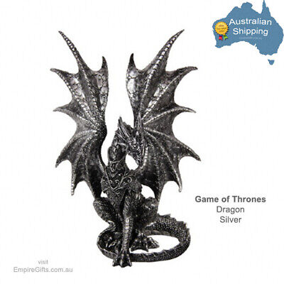 1pc Game of Thrones Dragon Statue Silver G.O.T