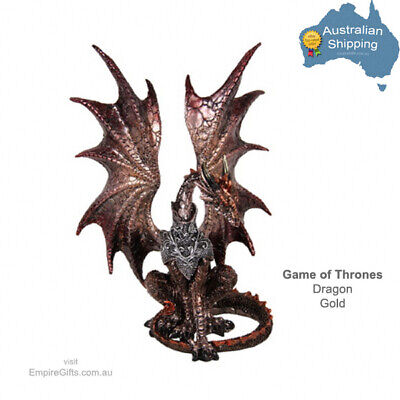 1pc Game of Thrones Dragon Statue Gold G.O.T