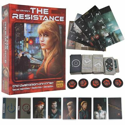 The Resistance 3rd Edition Board Game Party Family Game 30 Mins -- 5-10 Players