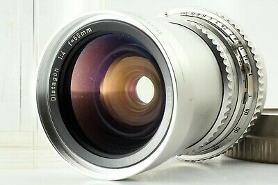 【EXC+5】 HASSELBLAD Carl Zeiss Distagon C 50mm F/4 Chrome From JAPAN #s109