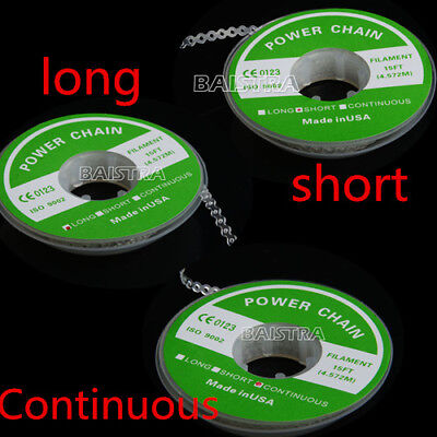 Dental Orthodontic Ortho Elastolink Chain Clear Color Long Short Continuous Type