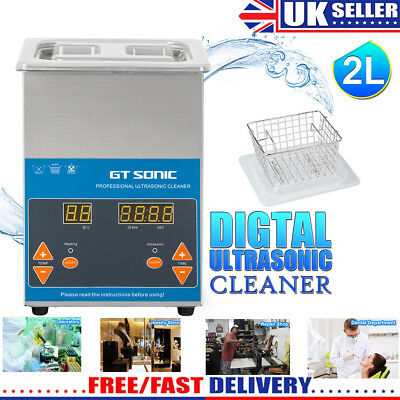 Digital Stainless Steel 2L Ultrasonic Ultra Cleaner Bath PRO with Timer & Heater