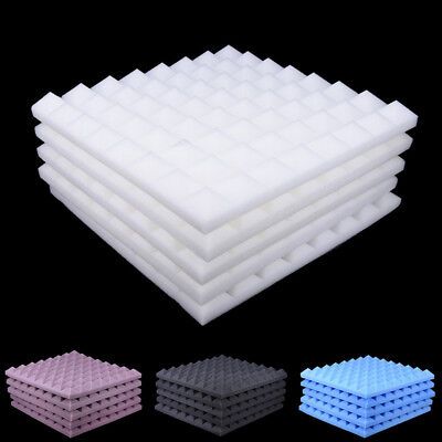 5Pcs/Set 50X50 Soundproofing Foam Studio Acoustic Sound Absorption Wedge Tile JD