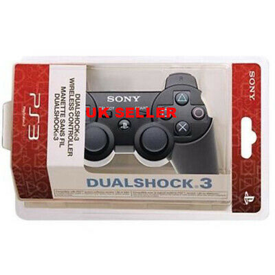 For PS3 Dualshock 3 Bluetooth Wireless Joystick Gamepad Controller Black
