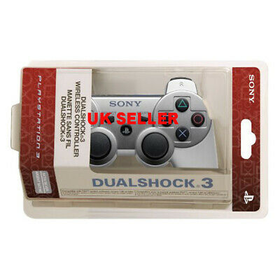 PS3 Dualshock Bluetooth Wireless Gamepad Controller For Play Station 3 Silver